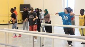 SBL students participate in a dance workshop