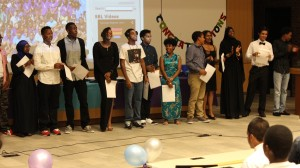 grade 9 students at the graduation ceremony
