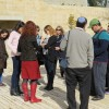 Students visiting sites in Israel