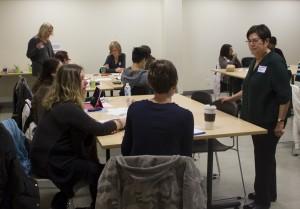 Esthaer Fine with workshop participants