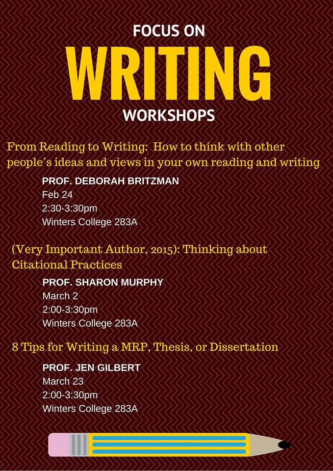 Dissertation writing workshop