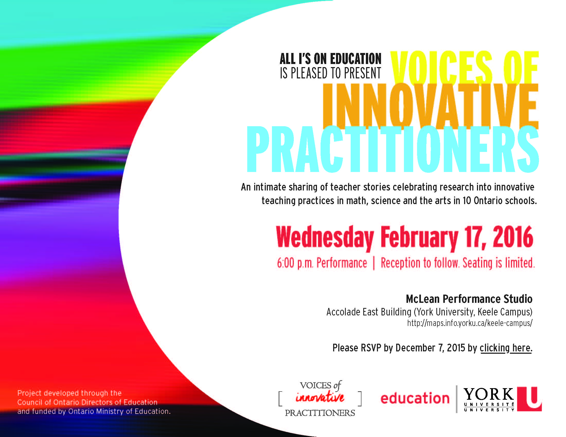 Voices of Innovative Practitioners invitation