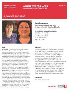 Keynote Address by Professors Lisa Korteweg & Tesa Fiddler