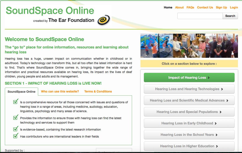 SoundSpace website