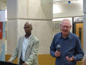 Dr. Carl James and Michael Adams, President of Environics