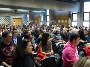 York teacher candidates attending the panel discussion