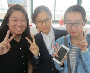 York teaher candidate Linda Ng with students in China