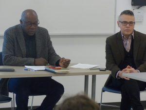 Professors Warren Crichlow and Mario DiPaolantonio