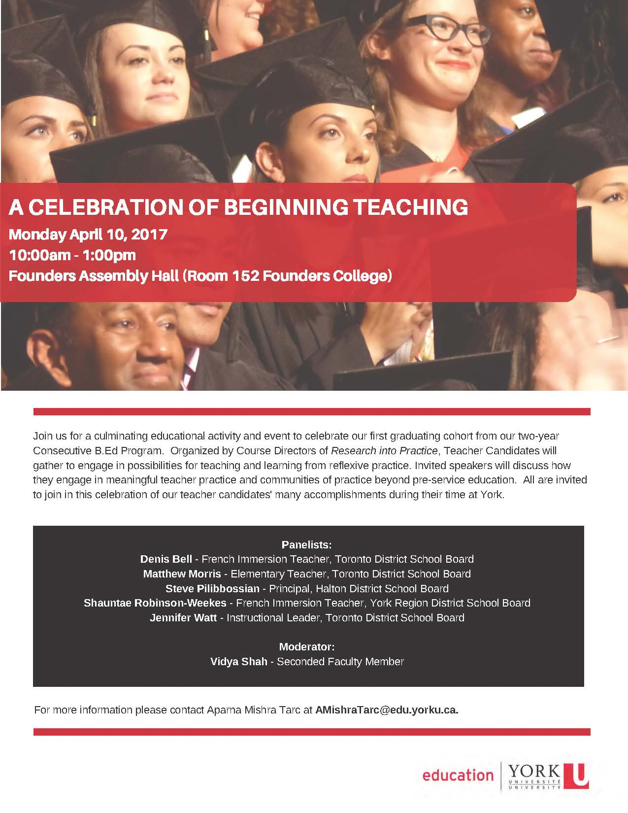 Celebration of Beginning Teaching flyer
