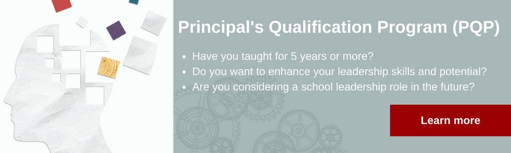 Principal's Qualification Program