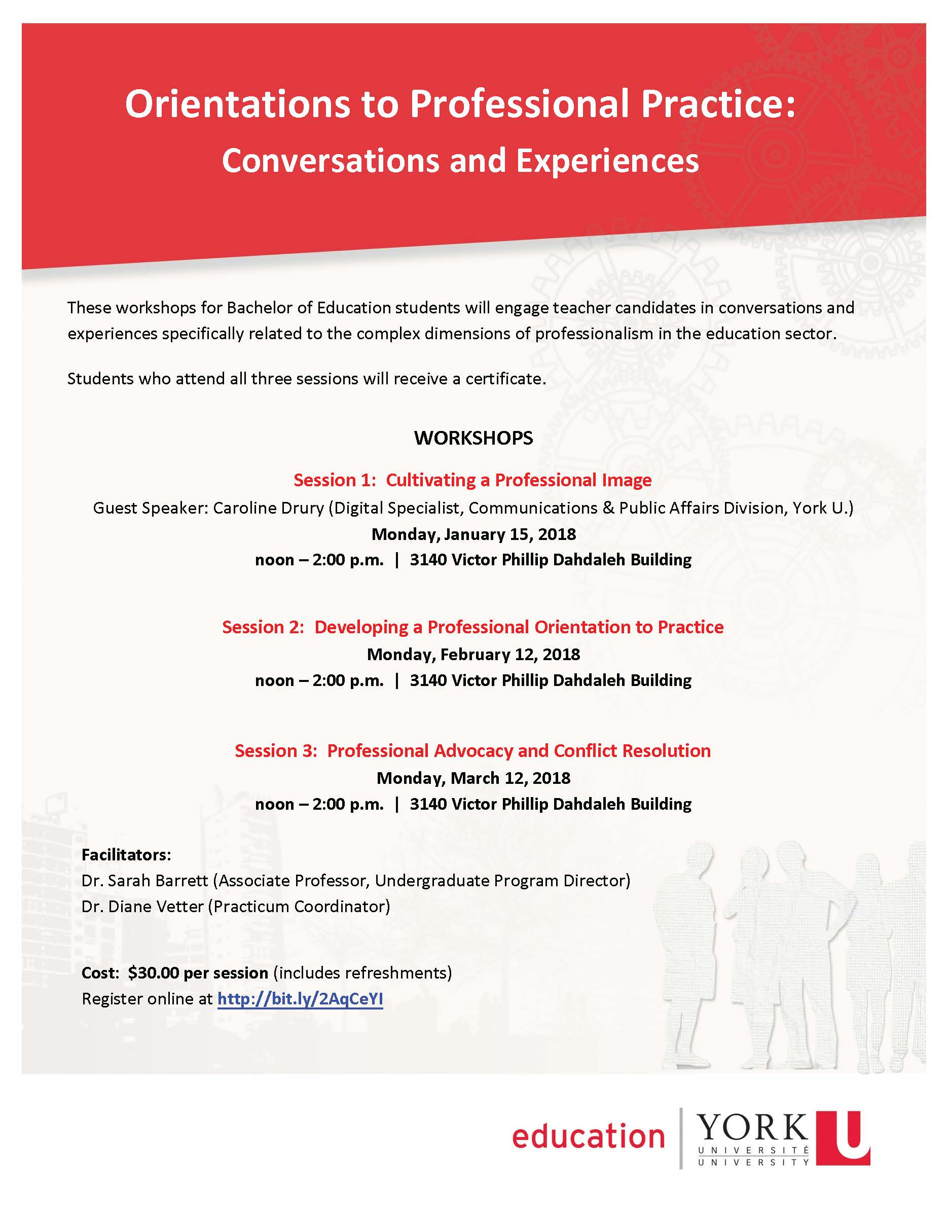 Orientations to Professional Practice: Conversations and Experiences @ 3140 Victor Phillip Dahdaleh Building