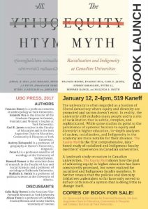 BOOK LAUNCH! The Equity Myth: Racialization and Indigeneity at Canadian Universities @ 519 Kaneff Tower