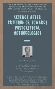 Science After Critique or Towards Postcritical Methodologies @ Room 956 Kaneff Tower