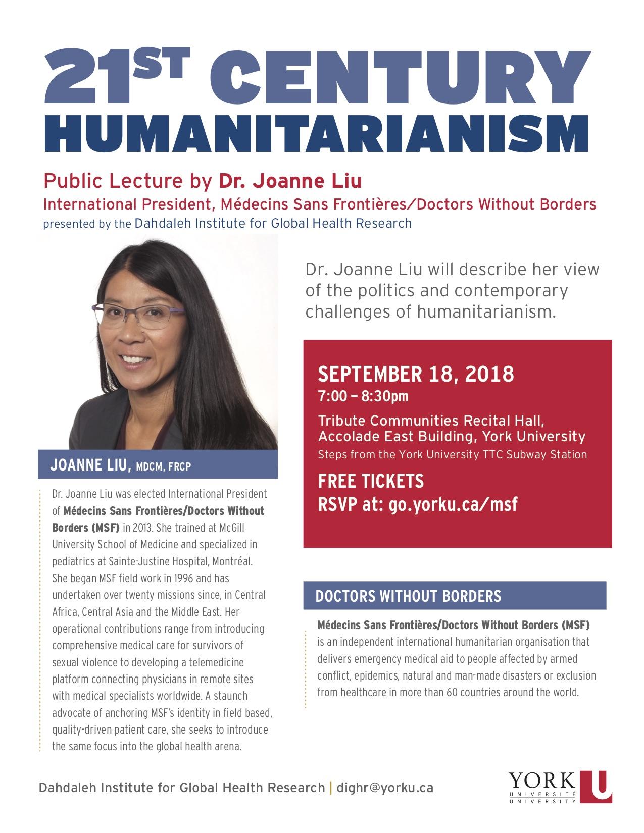 21st Century Humanitarianism poster