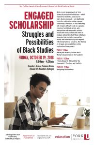 Engaged Scholarship: Struggles and Possibilities of Black Studies @ 305 Founders College (Founders Senior Common Room)