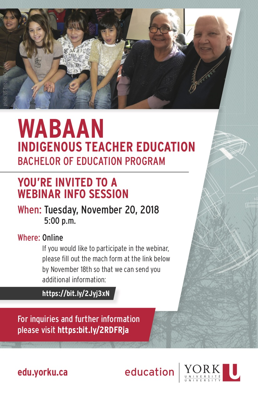 YorkEd-Wabaan-InfoSession-postcard-webinar flyer