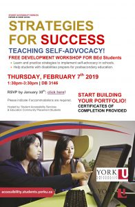 Strategies for Success: Teaching Self-Advocacy @ 3146 (Victor Phillip Dahdaleh Building)