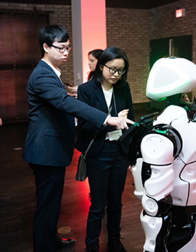 Guests interacted with Apollo, the York robot.