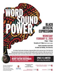 Word, Sound, Power: Black Artistic Expression @ Tribute Communities Recital Hall Accolade East Building, York University